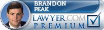 Brandon L. Peak  Lawyer Badge
