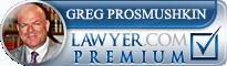 Greg Prosmushkin  Lawyer Badge