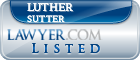 Luther Sutter Lawyer Badge