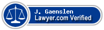 J. Anthony Gaenslen  Lawyer Badge