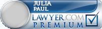 Julia Morris Paul  Lawyer Badge