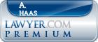 A. Randall Haas  Lawyer Badge