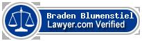 Braden A. Blumenstiel  Lawyer Badge