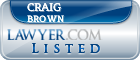 Craig Brown Lawyer Badge