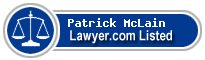 Patrick McLain Lawyer Badge