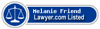 Melanie Friend Lawyer Badge