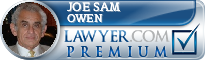 Joe Sam Owen  Lawyer Badge