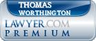 Thomas S Worthington  Lawyer Badge