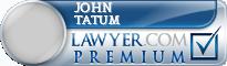 John M. Tatum  Lawyer Badge