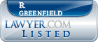 R. Greenfield Lawyer Badge