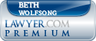 Beth S. Wolfsong  Lawyer Badge