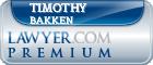 Timothy R. Bakken  Lawyer Badge