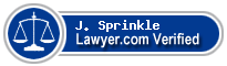 J. Wayne Sprinkle  Lawyer Badge