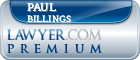 Paul B. Billings  Lawyer Badge