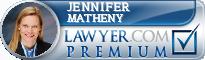 Jennifer B. Matheny  Lawyer Badge