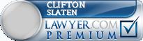 Clifton E. Slaten  Lawyer Badge