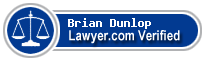 Brian Dudley Dunlop  Lawyer Badge