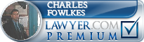 Charles E. Fowlkes  Lawyer Badge