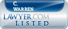 C. Warren Lawyer Badge