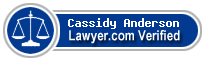 Cassidy Anderson  Lawyer Badge