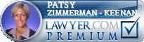 Patsy Zimmerman - Keenan  Lawyer Badge