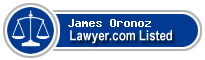 James Oronoz Lawyer Badge