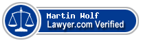 Martin F. Wolf  Lawyer Badge