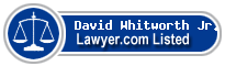 David Whitworth Jr. Lawyer Badge