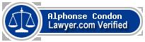 Alphonse G Condon  Lawyer Badge