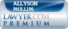 Allyson M. Phillips  Lawyer Badge