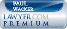 Paul Wacker  Lawyer Badge