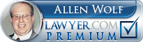 Allen M. Wolf  Lawyer Badge