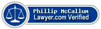 Phillip W McCallum  Lawyer Badge
