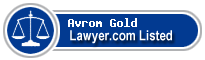 Avrom Gold Lawyer Badge