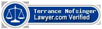 Terrance M. Nofsinger  Lawyer Badge