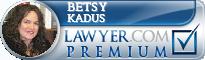 Betsy Kadus  Lawyer Badge