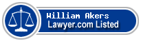 William Akers Lawyer Badge
