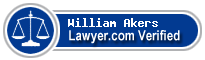 William J. Akers  Lawyer Badge