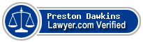 Preston B. Dawkins  Lawyer Badge