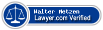 Walter A. Metzen  Lawyer Badge