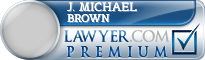 J. Michael Brown  Lawyer Badge