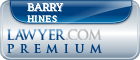 Barry Hines  Lawyer Badge