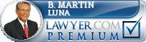 B. Martin Luna  Lawyer Badge