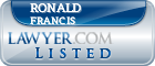 Ronald Francis Lawyer Badge