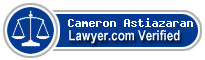 Cameron Astiazaran  Lawyer Badge