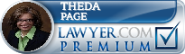 Theda W. Page  Lawyer Badge