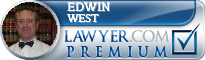 Edwin L. West  Lawyer Badge
