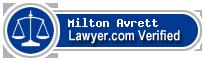 Milton M. Avrett  Lawyer Badge