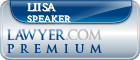 Liisa Speaker  Lawyer Badge