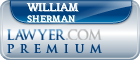 William E. Sherman  Lawyer Badge